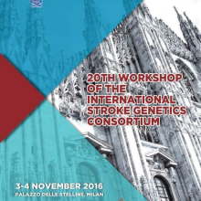 3-4/11/2016 - 20th Workshop of the International Stroke Genetics Consortium